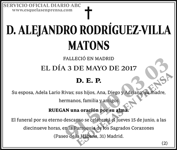 Alejandro Rodríguez-Villa Matons